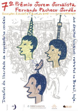 Cartaz do prêmio, obra de Jaime Prades.
