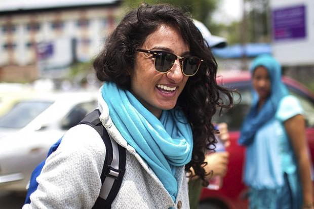 Raha Moharrak, alpinista saudita. (Crédito: Narendra Shrestha/EFE)