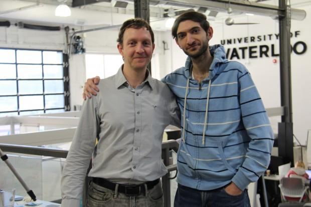 Os criadores do site, Stavros Rougas e Ebrahim Ashrafizadeh