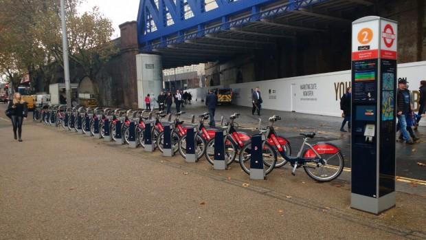 Sistema de bicicletas compartilhadas em Londres