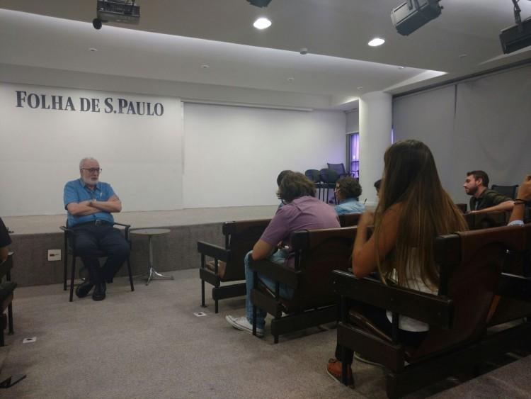 O colunista da Folha Clóvis Rossi fala para os trainees da 60ª turma do Programa de Treinamento
