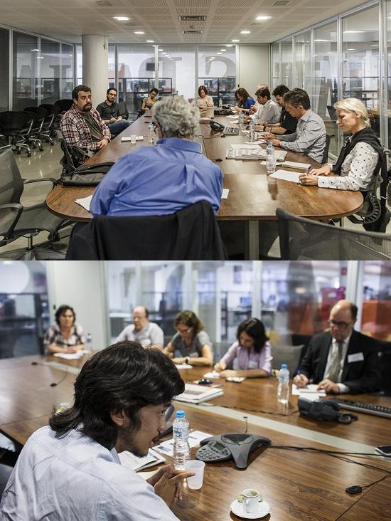 SAO PAULO, SAO PAULO, BRASIL, 19-09-2016: Treinees da Folha entrevistam Guilherme Boulos, lider do MTST. (Foto: Avener Prado/Folhapress, XXX) Código do Fotógrafo: 20516 ***EXCLUSIVO FOLHA***