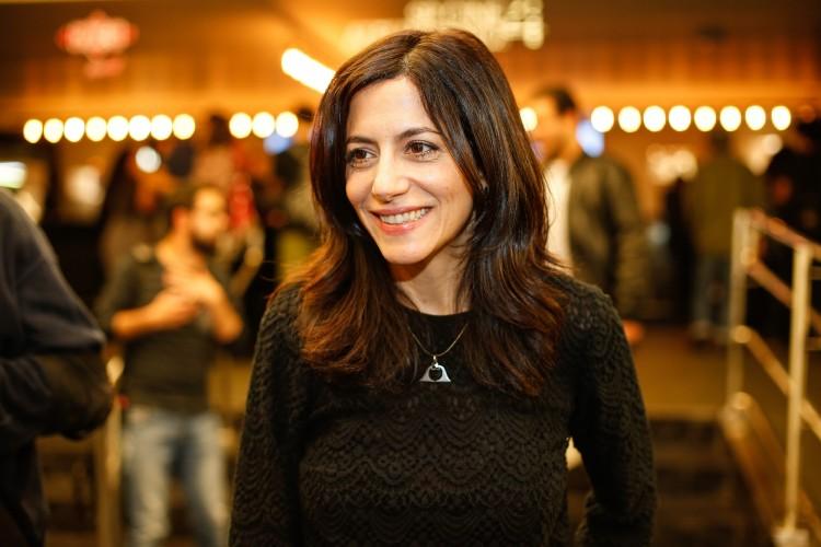 A atriz Marina Person em pré-estreia do filme (Bruno Poletti/Folhapress)