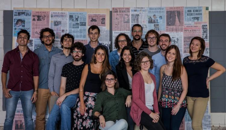 Trainees da 60ª turma de Treinamento em Jornalismo Diário (Foto: Eduardo Anizelli/Folhapress)