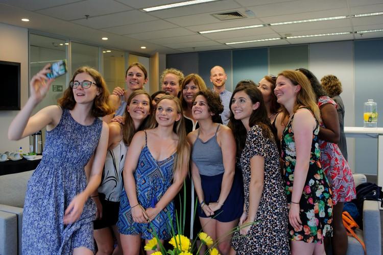 Recepção a grupo de estudantes neozelandeses, bolsistas financiados pelo governo da Nova Zelândia Consulado da Nova Zelândia (Foto: Márcia Alves/Agência Galo)