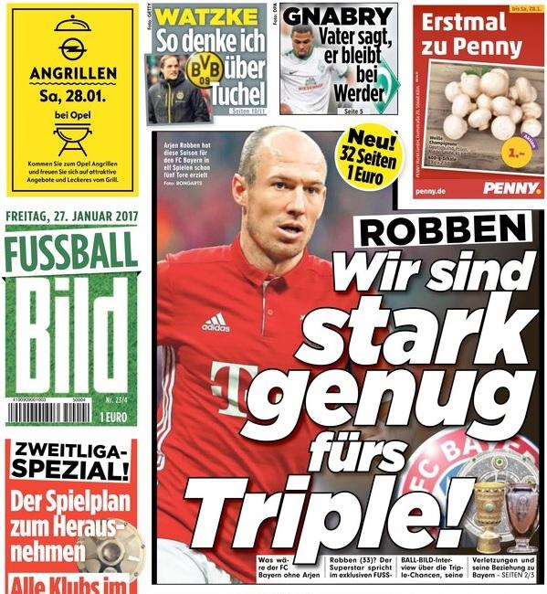 """Primeira página do novo jornal """"Fussball Bild"""" (Foto: Reprodução/Fussball Bild)"""